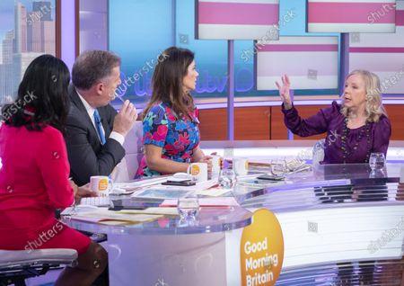 Ranvir Singh, Piers Morgan and Susanna Reid with Deborah Meaden