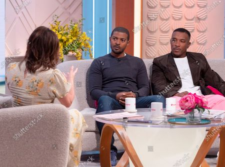 Lorraine Kelly, Noel Clarke and Ashley Walters