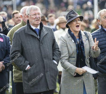 Sir Alex Ferguson and Clare Balding.