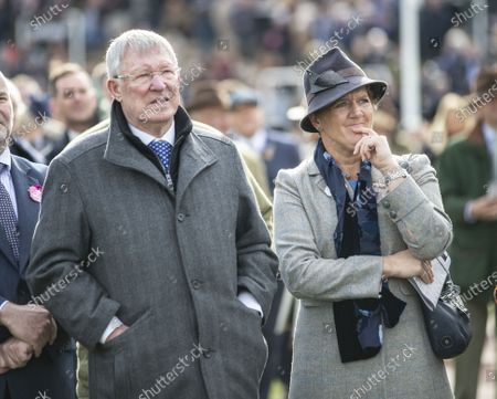Stock Picture of Sir Alex Ferguson and Clare Balding.