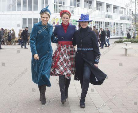 Stock Picture of L to R Charlotte Hawkins, Francesca Cumani and Alice Plunkett