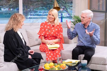 Stock Photo of Phillip Schofield and Holly Willoughby with Petula Clark
