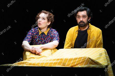Stock Photo of Katherine Parkinson as Viv, Tom Kanji as Kenny