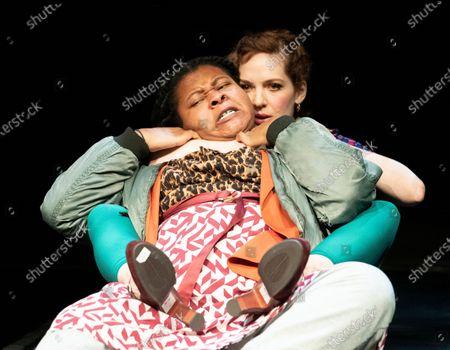 Stock Image of Kayka Meikle as Elaine,  Katherine Parkinson as Viv