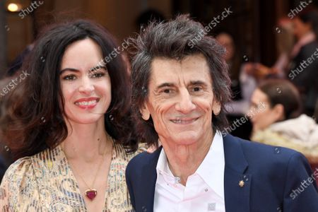 Stock Image of Sally Wood and Ronnie Wood