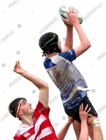The Bish vs St Muredach's College. St. Muredach's College's Harry Regan and Marcus Lowry of The Bish