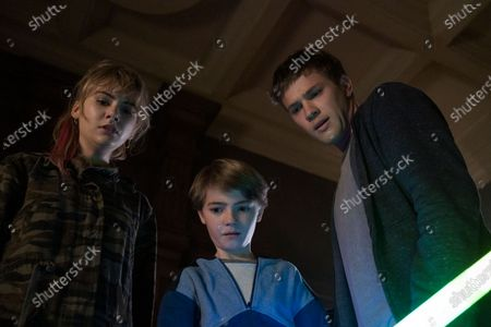 Emilia Jones as Kinsey Locke, Jackson Robert Scott as Bode Locke and Connor Jessup as Tyler Locke
