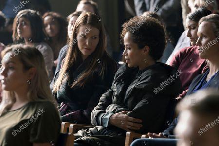 Darby Stanchfield as Nina Locke and Sherri Saum as Ellie Whedon