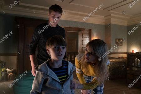 Connor Jessup as Tyler Locke, Jackson Robert Scott as Bode Locke and Emilia Jones as Kinsey Locke