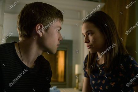 Connor Jessup as Tyler Locke and Genevieve Kang as Jackie Veda