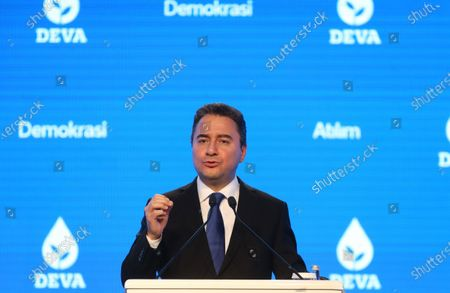 Editorial photo of Former Turkish Minister Ali Babacan launches new political party in Ankara, Turkey - 11 Mar 2020