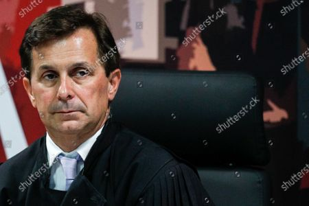 Judge Ivo Rosa during the fact-finding debate into the high-profile corruption case known as Operation Marques at the Justice Campus in Lisbon, Portugal, 11 March 2020. Operation Marques has 28 defendants - 19 people and 9 companies - including former Prime Minister Jose Socrates, banker Ricardo Salgado, businessman and friend of Socrates Carlos Santos Silva and senior staff of Portugal Telecom and is related to crimes of corruption, active and passive, money laundering, document forgery and tax fraud.