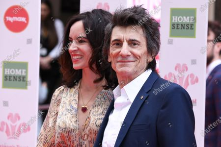 Stock Picture of Sally Humphries and Ronnie Wood