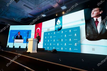 Ali Babacan, an economist, who held various high level government positions between 2002-2015, announces the details of the program of his new political party, Remedy, in Ankara, Turkey, . Babacan has established a new political party, the second former ally of President Recep Tayyip Erdogan to breakaway from the ruling party and form a new movement to challenge his rule