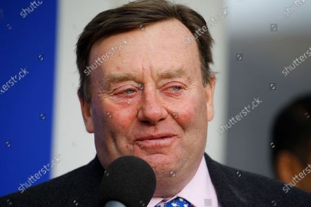 Nicky Henderson after the victory of Champ in the RSA Chase at Cheltenham.