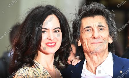 Ronnie Wood and Sally Wood arrive at the Prince's Trust awards held at the London Palladium London, Britain, 11 March 2020.