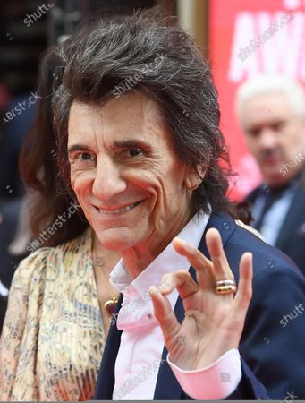 Ronnie Wood arrives at the Prince's Trust awards held at the London Palladium London, Britain, 11 March 2020.