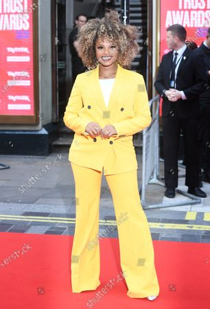 British singer Fleur East arrives at the Prince's Trust awards held at the London Palladium London, Britain, 11 March 2020.