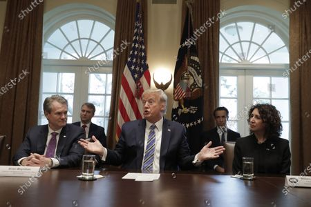 Editorial picture of President Donald Trump meets with bankers in Washington, Usa - 11 Mar 2020