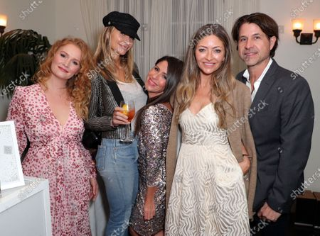 Stock Picture of EXCLUSIVE - Kimberly Brook, Ambre Dahan, Soleil Moon Frye, Rebecca Gayheart Dane and Roger Berman