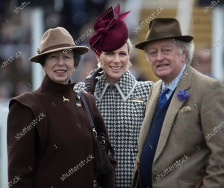 Princess Anne, Zara Tindall and Andrew Parker Bowles