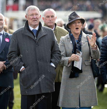 Stock Image of Sir Alex Ferguson and Clare Balding