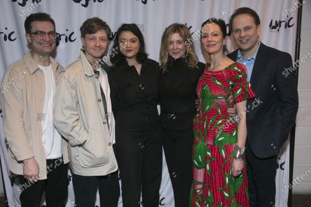 Stock Image of Patrick Knowles (Henry), Mike Noble (Jamie), Isabella Laughland (Rose), Rachel O'Riordan (Director), Rachael Stirling (Sandra) and Nicholas Burns (Kenneth)