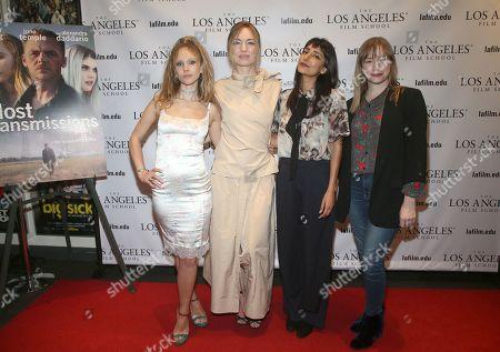 Stock Image of Juno Temple, Katharine O'Brien, Rebecca Hazlewood and Tory Lenosky