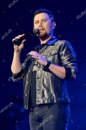 Stock Image of Country musician Scotty McCreery performs at the Ryman Auditorium.