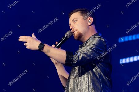 Stock Photo of Country musician Scotty McCreery performs at the Ryman Auditorium.