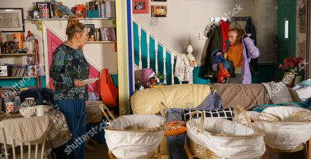 Ep 10032 Monday 16th March 2020 - 1st Ep After a sleepless night, a frazzled Gemma Winter, as played by DOLLY-ROSE CAMPBELL, opens the door to Bernie Winter, as played by JANE HAZLEGROVE, who bustles her way in. Bernie casts her eye over the mess at No.5 and realises Gemma isn't coping. Gemma insists she's fine but it's clear to Bernie that's far from true.