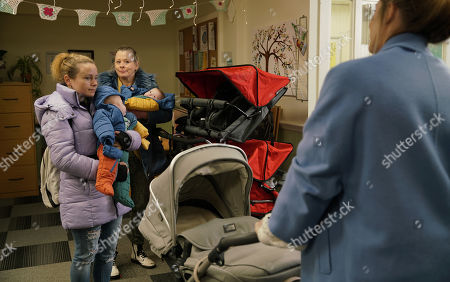Ep 10034 Wednesday 18th March 2020 - 1st Ep Bernie's concerned as Gemma watches over her babies, a ball of anxiety. At Baby Senses class Gemma Winter, as played by DOLLY-ROSE CAMPBELL, introduces Bernie Winter, as played by JANE HAZLEGROVE, to her friends Imogen and Vanessa who can't stand on sight. When Gemma suggests meeting up later, Vanessa and Imogen make out they would have loved to but are due at an old friend's house.
