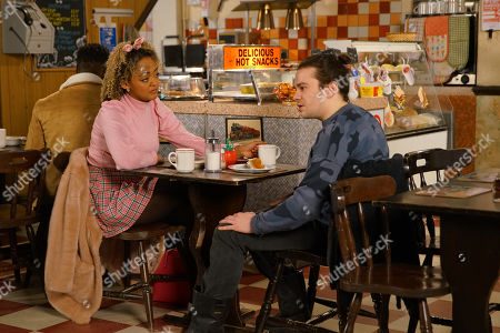 Ep 10032 Monday 16th March 2020 - 1st Ep When Emma, as played by ALEXANDRA MARDELL, reveals that her Mum has offered to pay for them to visit her in Australia, Seb Franklin's, as played by HARRY VISINONI, not keen and Emma's left disappointed.