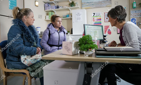 Ep 10041 Wednesday 25th March 2020 - 2nd Ep Gemma Winter, as played by DOLLY-ROSE CAMPBELL, plays down her depression and assures Dr Gaddas she's just overly tired. Bernie Winter's, as played by JANE HAZLEGROVE, frustrated by her daughter's refusal to accept help.