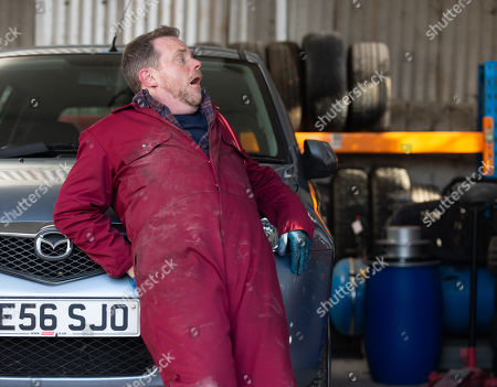 Ep 8767 Thursday 27th March 2020 - 1st Ep A hungover Dan Spencer, as played by LIAM FOX, forgets to bring money to the Café so Brenda Hope asks him to help her make-up the wraps with her so he can work off the debt. Dan eats one of the wraps but starts to feel his throat grow itchy and his face turn red. He loses his balance when reaching for his phone, leaving him terrified and in agony.