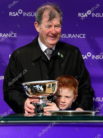 Cheltenham. RSA Insurance Novices' Chase (Grade 1) CHAMP winning owner JP McManus and Archie McCoy.