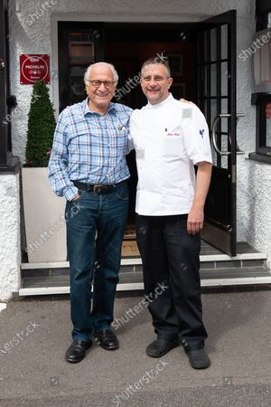 Stock Image of Michel Roux and his son Alain Roux