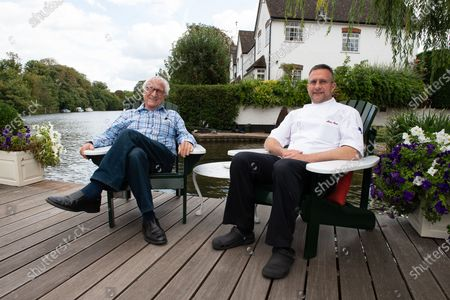 Stock Photo of Michel Roux and his son Alain Roux