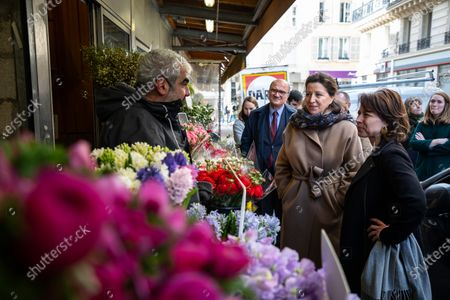 Editorial photo of Paris mayoral candidate Buzyn visits 9th district during electoral campaign, France - 12 Mar 2020