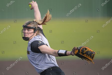 Stock Photo of Appalachian State pitcher Sydney Holland delivers a pitch during an NCAA softball game against Southeastern Louisiana, in Hammond, La