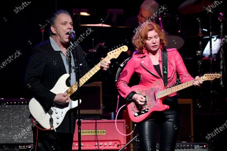 Stock Image of Jimmie Vaughan and Sue Foley