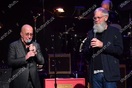 Stock Image of Paul Shaffer and David Letterman