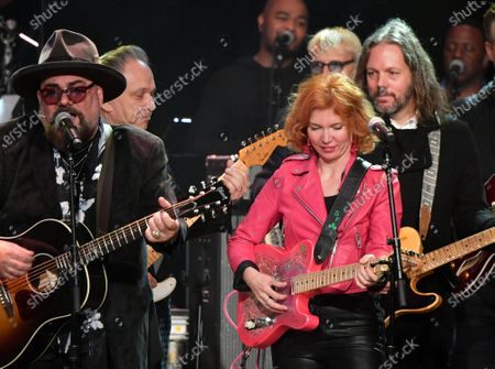 Jimmy Vivino, Sue Foley and Rich Robinson