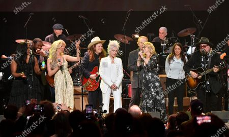 Stock Picture of Tanya Blount-Trotter, Michael Trotter Jr., Joss Stone, Marcus King, Cyndi Lauper, Susan Tedeschi and Jimmy Vivino