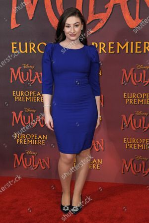 Editorial picture of 'Mulan' film premiere, London, UK - 12 Mar 2020