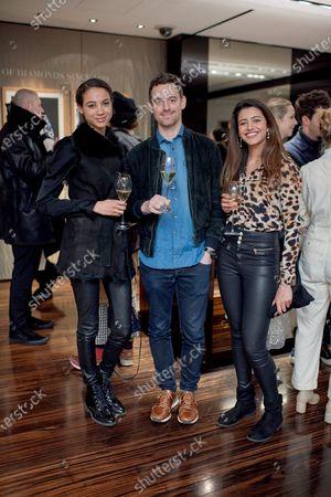 Tenishia McSweeney, Simon Ambrose (entrepreneur) (entrepreneur) and Annie Pereira