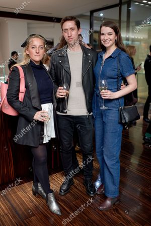 Chloe Pemberton, Tom Nunez and Margaret Clunie