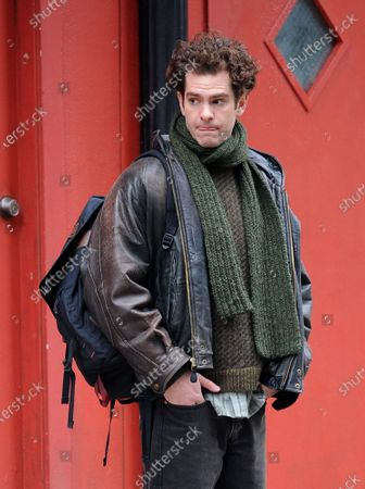 Editorial photo of 'Tick Tick Boom' on set filming, New York, USA - 12 Mar 2020