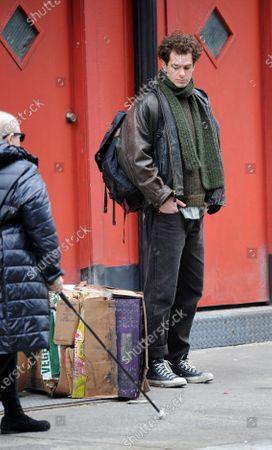 Editorial image of 'Tick Tick Boom' on set filming, New York, USA - 12 Mar 2020