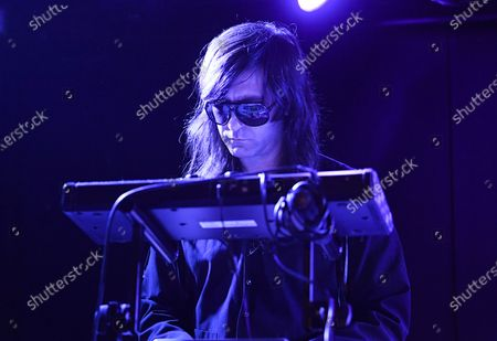 Multi-instrumentalist Matt Katz-Bohen of Princess Goes To The Butterfly Museum performs at the Mercury Lounge, in New York